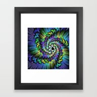 Framed Art Print featuring Psychedelic Spiral by Gabiw Art