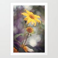 Yellow Florals Art Print