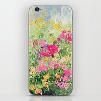 Dreamy Confetti Flower Basket Bouquet -- Whimsical Painterly Abstract iPhone & iPod Skin
