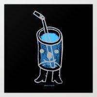i'm a fancy beverage. Art Print