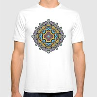 Soothing Mandala Mens Fitted Tee White SMALL