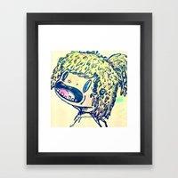 Rad Gal Framed Art Print