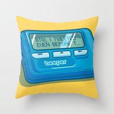 Text Hipster Throw Pillow