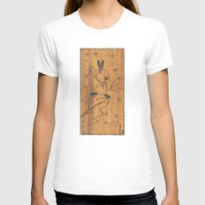 Cute little animal on wood Womens Fitted Tee White SMALL