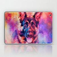 Jazzy German Shepherd Colorful Dog Art by Jai Johnson Laptop & iPad Skin