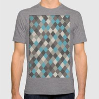 Harlequin Grey Mens Fitted Tee Tri-Grey SMALL