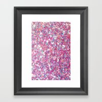 Twinkle Pink Framed Art Print