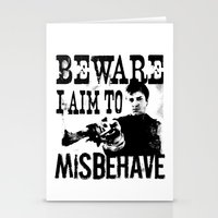 I aim to misbehave Stationery Cards