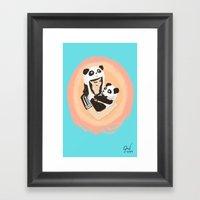 Panda & Jess Framed Art Print