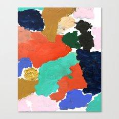 Kara - paint palette abstract minimal modern art bright colorful boho urban painting college dorm Canvas Print