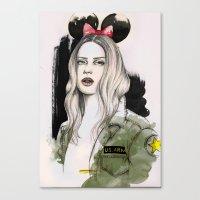 Army Girl Canvas Print