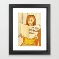 Holy F**k Magazine Framed Art Print