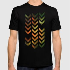Nebula Chevrons Mens Fitted Tee SMALL Black