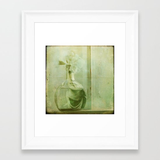 The Woman Behind The Girl Framed Art Print
