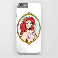 iPhone Cases featuring Framed Mermaid by Psychofishes