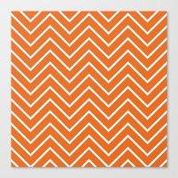 Orange Chevron Canvas Print