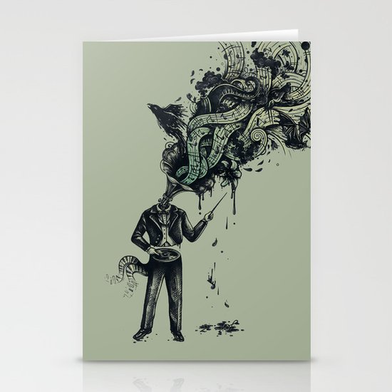 Decaying Sound of The Terror Stationery Card