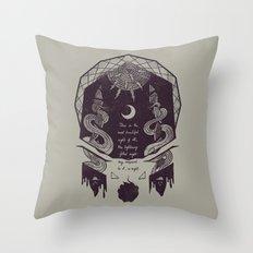 The Lightning-Filled Night Throw Pillow