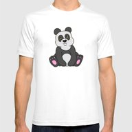 Little Panda Mens Fitted Tee White SMALL