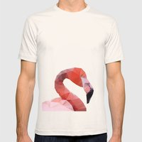 Geometrical - Flamingo Mens Fitted Tee Natural SMALL