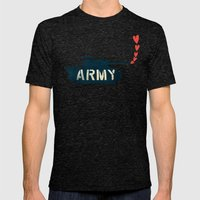 The Love Army Mens Fitted Tee Tri-Black SMALL