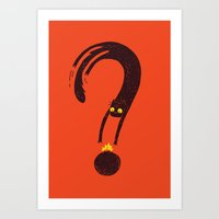 Curiosity Exploded the Cat Art Print
