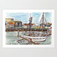 The Harbour, Figueira Da Foz, Portugal Art Print