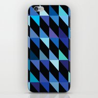Blue Triangle Pattern (2… iPhone & iPod Skin