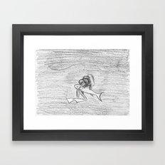 Shark Tenderness Framed Art Print