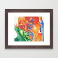 Scream with your eyes Framed Art Print