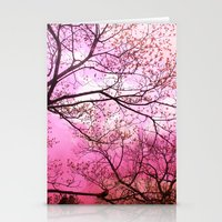 Surreal Pink Trees Nature  Stationery Cards