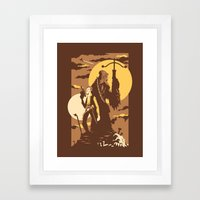 The Scoundrel & The Wookie Framed Art Print