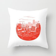 Rebuild Japan Throw Pillow