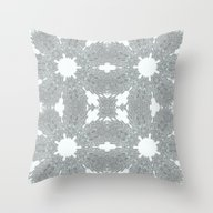Blue Ice Crystals Throw Pillow