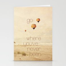 go where you've never been Stationery Cards