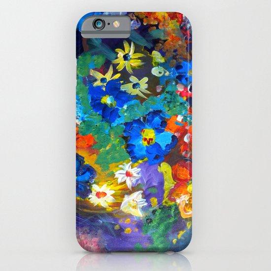 Flora Azul iPhone & iPod Case