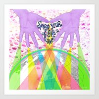 Spread Your Light To The… Art Print