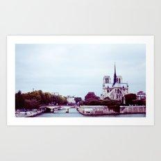 NOTRE DAME DE PARIS SUR LA SEINE. Art Print