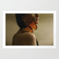 butterfly kisses~ Art Print