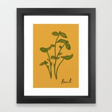 Basil Framed Art Print