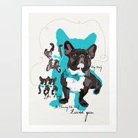 Chauncey Loves You - Fre… Art Print