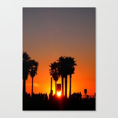 Venice Beach Sunset Canvas Print