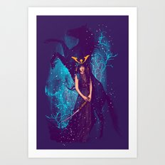 THE DARKEST HORSE Art Print