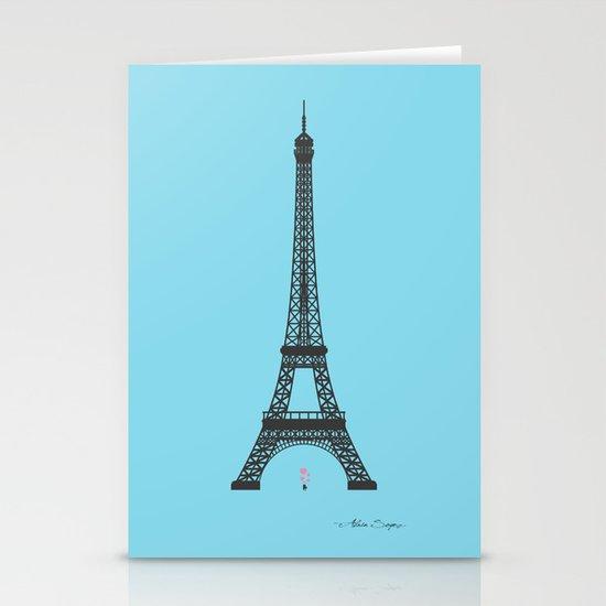 Eiffel Tower - First Kiss Stationery Card