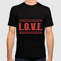 LOVE  Russian Autumn Mens Fitted Tee Black SMALL