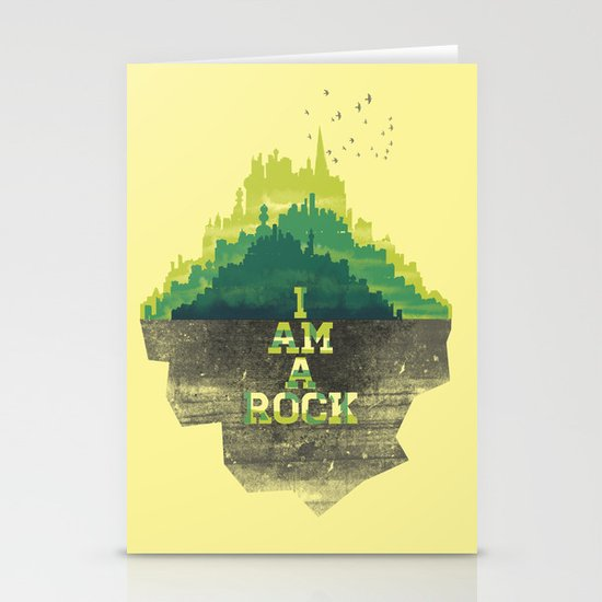 I am a Rock Stationery Card