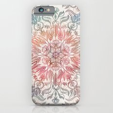 Autumn Spice Mandala in Coral, Cream and Rose Slim Case iPhone 6s