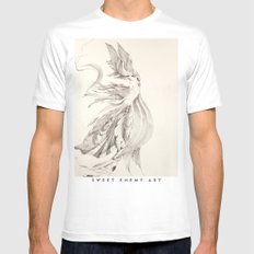 Fin and Feather Gown Mens Fitted Tee SMALL White
