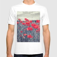 Field Of Love Mens Fitted Tee White SMALL