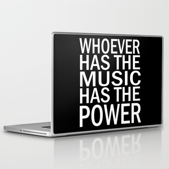 The Power of Music Laptop & iPad Skin